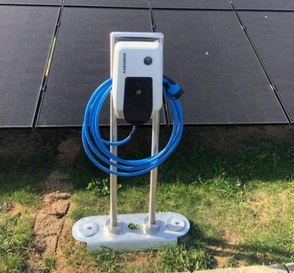 Borne de recharge électrique à Liège