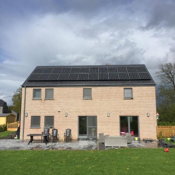 Installation centrale solaire photovoltaïque Namur